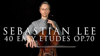 Sebastian Lee, Etude #13 from 40 Easy Etudes for Cello, Op.70