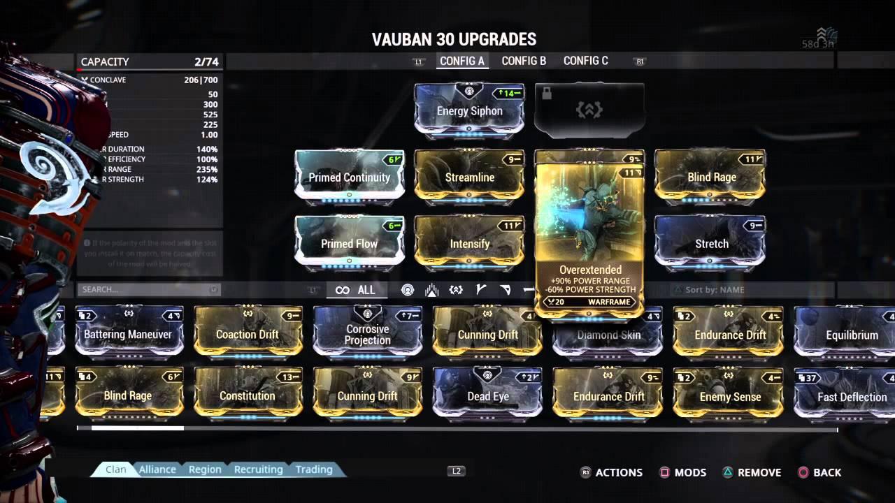 Warframe Vauban Prime Build