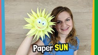 How to make paper Sun for kids at home