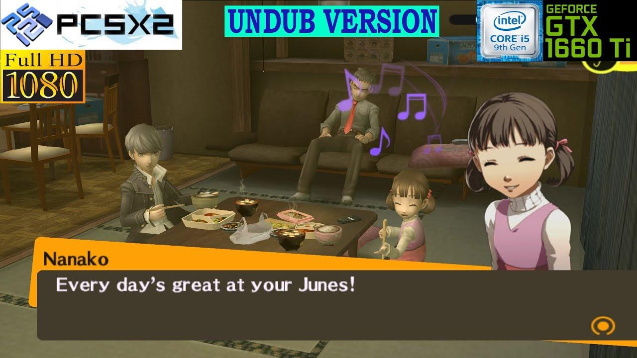 [PCSX2 PS2 Emulator] Shin Megami Tensei - Persona 4 -Undub- ~IR 8xNative~ (OpenGL-1080p)