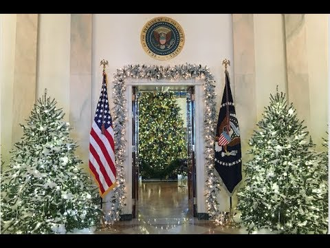 white house unveils the trumps first christmas decorations