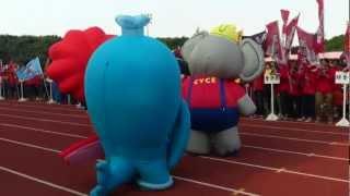 中原大學運動會 吉祥物吵架了