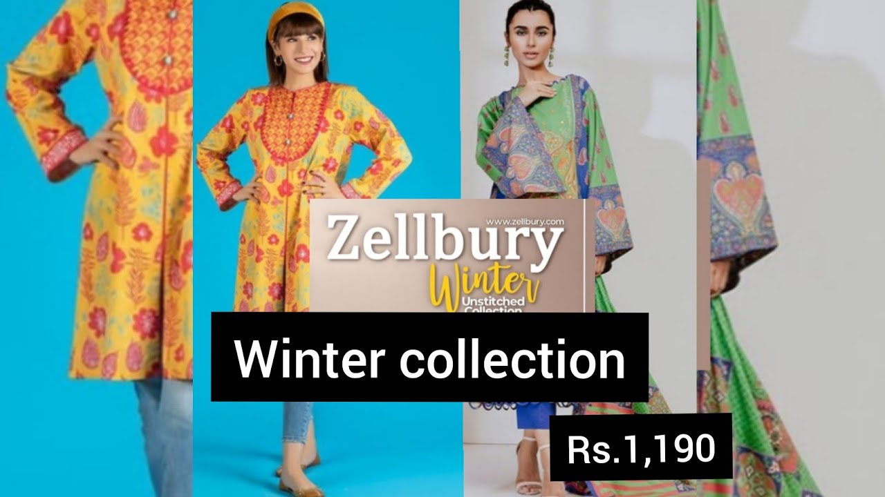 Zellbury Winter Collection Cambric And Khadar Collection Rs1 109 Zellbury Wintercollection Youtube