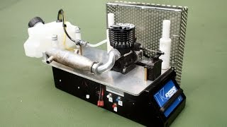 Automated RC Nitro engine break in bench