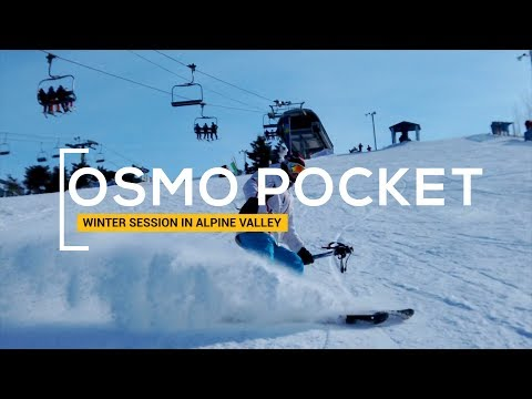 DJI OSMO POCKET - Winter Session In Alpine Valley 4K 60 Fps & SLOW-MO