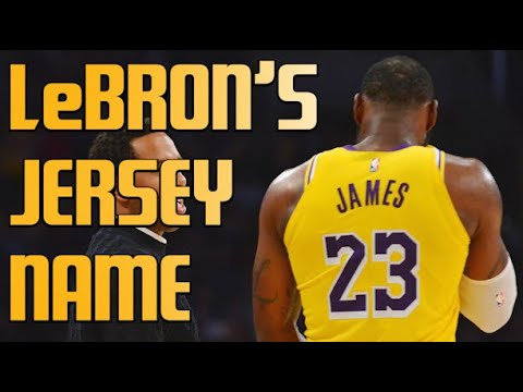 LeBron James Explains Why He Won't Change Name On Back Of Jersey