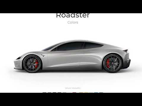 Look This !!! First Tesla Roadster Unofficial Configurator Allows You to Sample 12 Colors