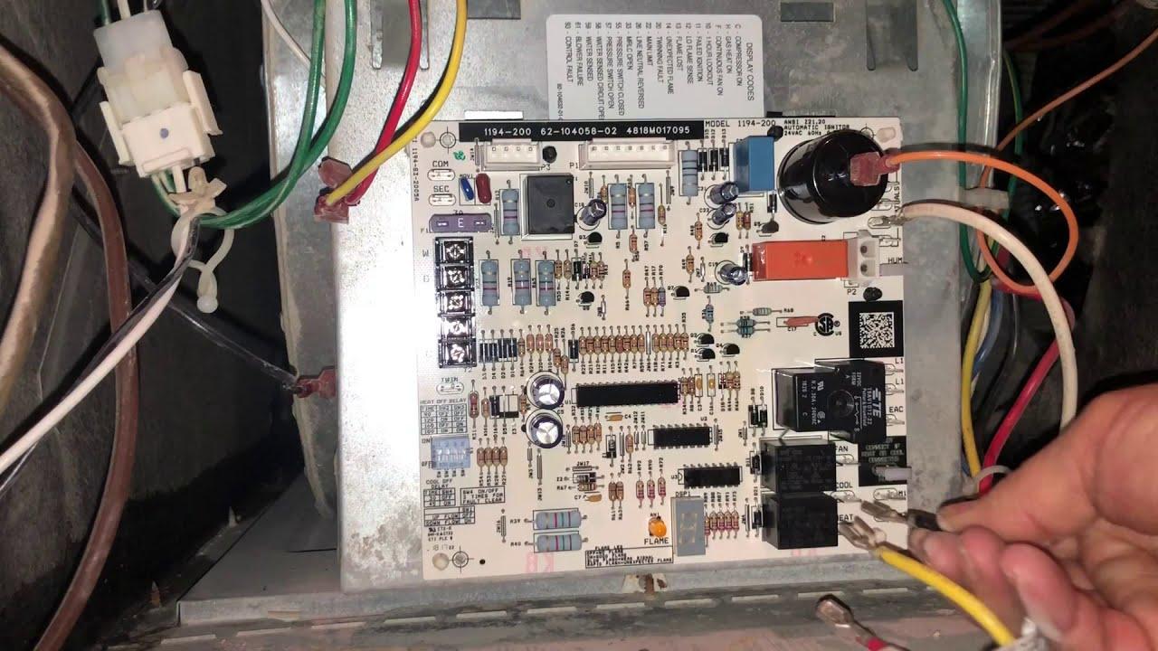 Rheem Gas Furnace Circuit Board Replacement - YouTube | Hvac Control Board Wiring Diagram |  | YouTube