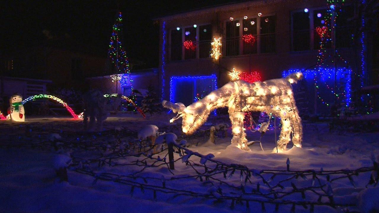 Animierte Christmas-Lightshow mit Musik, Hohenlinden-Ebersberg ...
