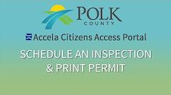 Schedule Inspection & Print Permit