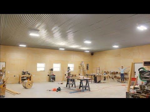 Building A Shop - Installing Lights, Outlets, and Stereo System