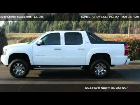 2010 chevrolet avalanche 1500 lt 4wd for sale in the best of the best wa 98390. Black Bedroom Furniture Sets. Home Design Ideas