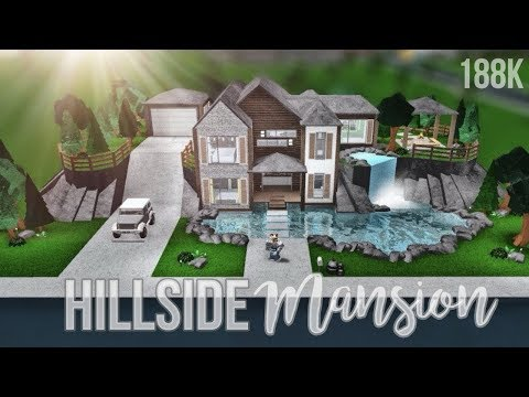 Bloxburg: Hillside Mansion 188K