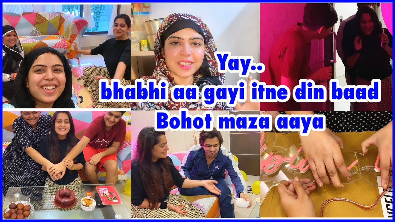 Bhabhi ke aane ki khushi & 2 Million celebration | made bhabhi's fav food | ibrahim family | vlog