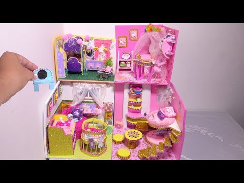 DIY Miniature Nursery Room Dollhouse ~ Disney Princess Belle Room Crafts