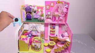 DIY Miniature Nursery Room Dollhouse ~ Disney Princess Belle Room Crafts