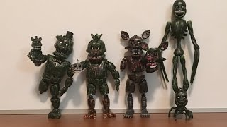 DRG's FNAF Custom Figures #7- Nightmare Phantom Animatronics & Phantom Mangle