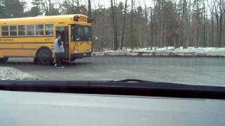 Jackson NJ vehicle passes stopped school bus..but