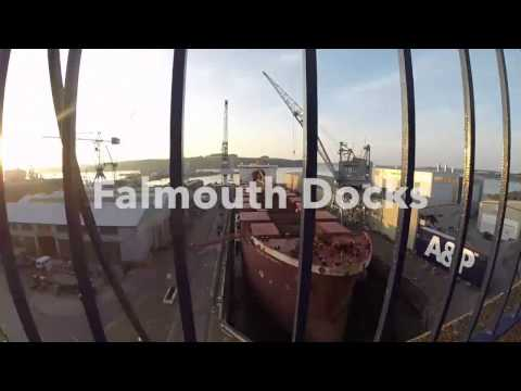 Falmouth Docks &  Pendennis Poin Cornwall