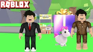 I BOUGHT EVERYTHING THE POOR BOY ASKED ME TO ADOPT ME-ROBLOX