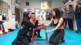 Arm Wrestling Test of Strength - Kung Fu Challenge
