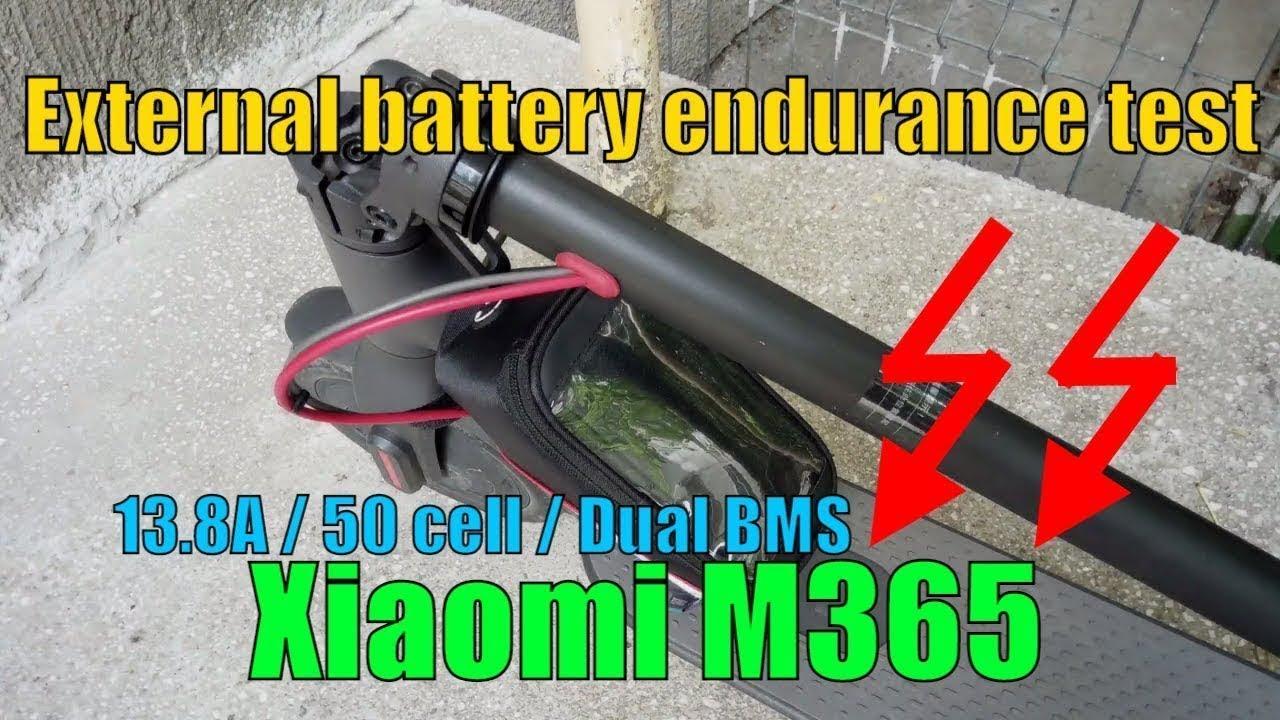 Xiaomi M365 External Battery Endurance Test - 5X Speed