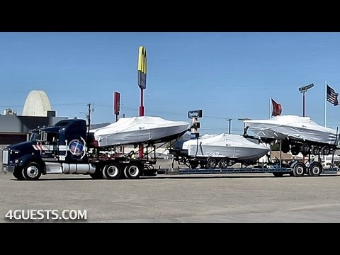 HQ MARINE TRUCKING w/ MALIBU BOATS on TRAILER