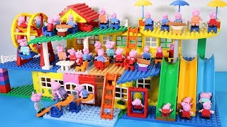 Peppa Pig Lego House Creations Toys - Lego House With Water Slide Toys For Kids #2
