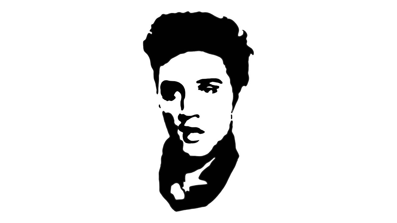 Elvis presley drawing a famous pop art portrait