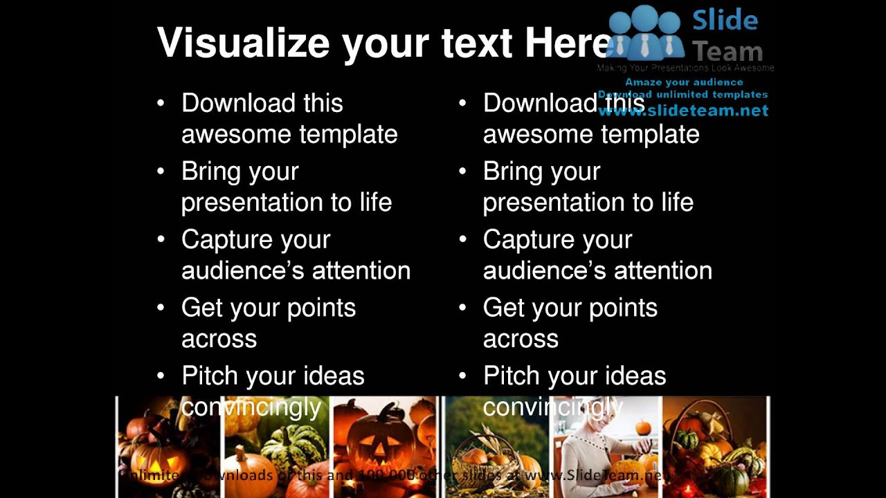 halloween collage festival powerpoint templates themes and