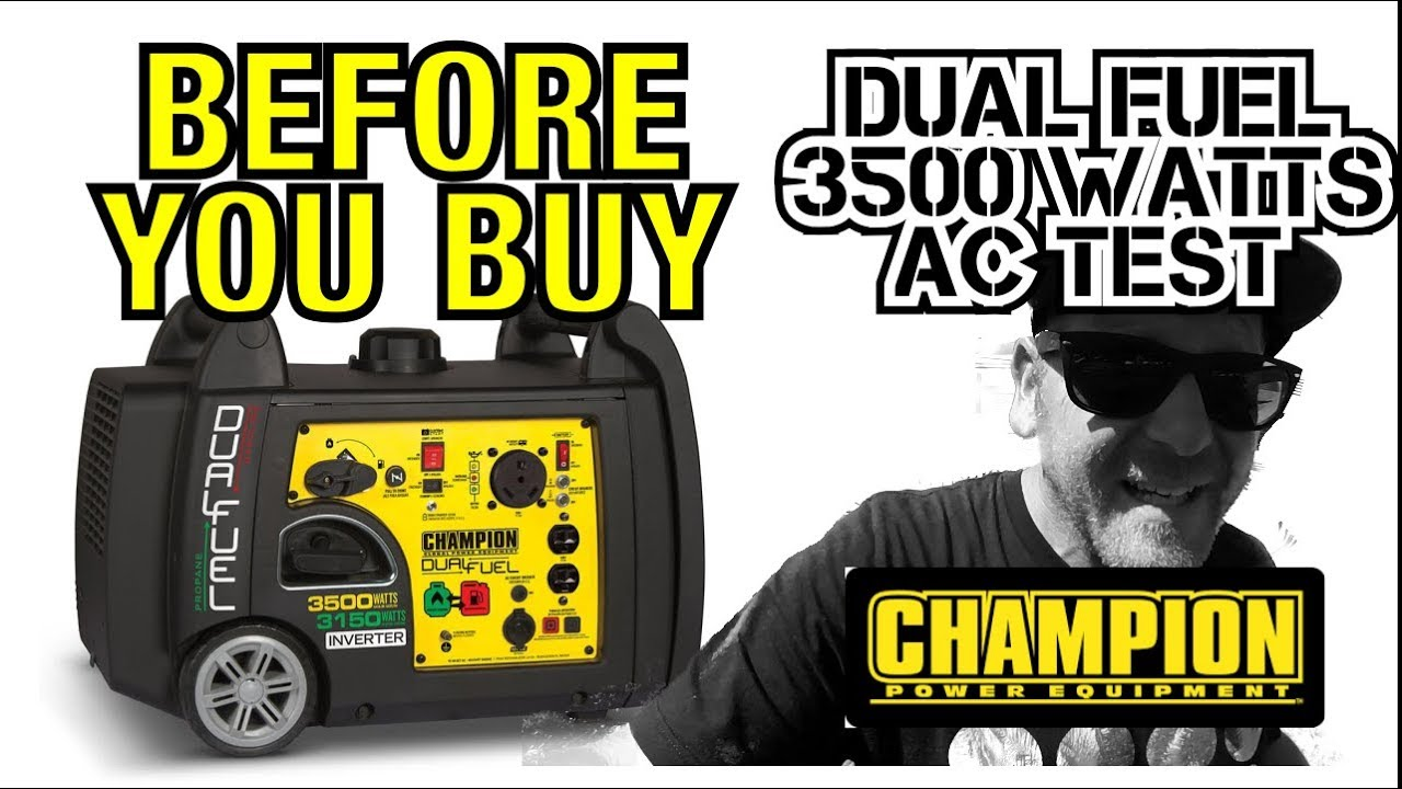 Before You Buy - Champion Dual Fuel 3500w Inverter Generator