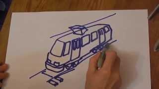 Как нарисовать трамвай. Рисуем трамвай. Рисунки для детей. How to draw a tram.(Как нарисовать трамвай. Рисуем трамвай. Рисунки для детей. В этом небольшом видео ребята узнают как нарисов..., 2015-09-09T14:42:02.000Z)