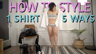 HOW TO STYLE | 1 SHIRT DRESS 5 WAYS