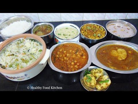 Special Lunch Menu Recipe - Sunday Lunch Menu Recipe - Indian Lunch Menu Recipe - Mappillai Virundhu