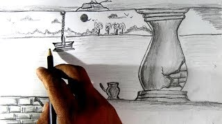 pencil drawing simple scenery draw easy drawings shading sketch drawingartpedia getdrawings zsg