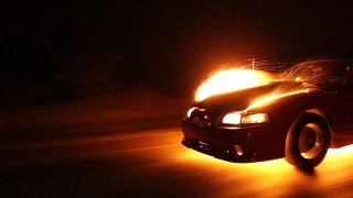 Street racing nitrous backfire!