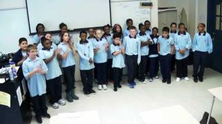"Students of Grade 6A performing ""A Ram Sam Sam"""
