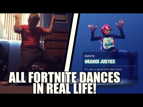 *NEW* ALL FORTNITE SEASON 4 DANCES IN REAL LIFE! (Orange Justice, Groove Jam, Hype & MORE!)