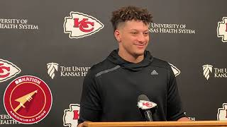 Patrick Mahomes explains how he'll spend his playoff bye