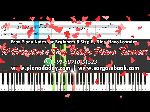 10 Valentine's Day Songs Piano Tutorial | 10 Love Songs Piano Tutorial