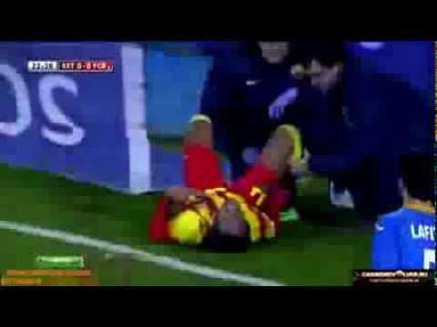 La blessur de Neymar vs Getafe  Full HD