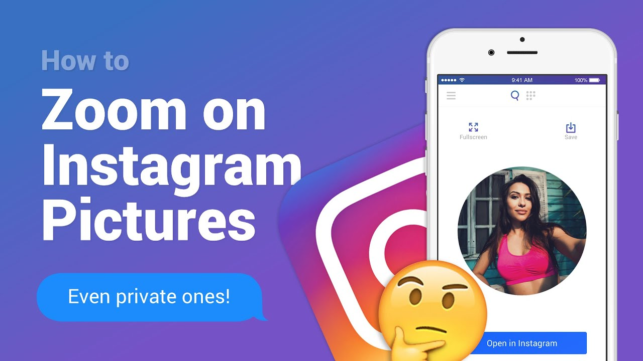 Qeek - How to zoom on Instagram profile pictures & more!