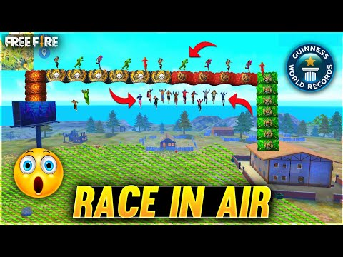 Race In Air Challenge With Glow Walls First Time In Free Fire - Garena Free Fire #5