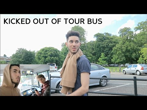 KICKED OUT OF LONDON TOUR BUS BY SECURITY!