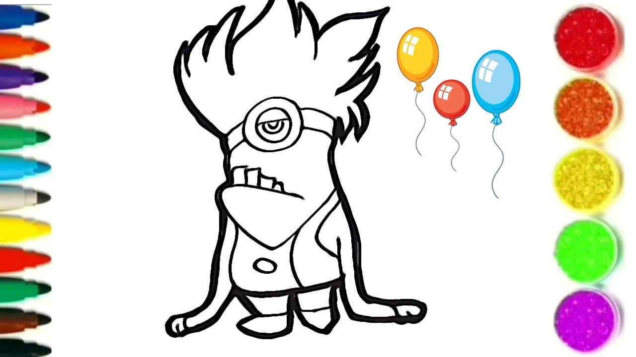 dessin et coloriage un mignon rigolo/ dessin facile #TT70 - YouTube