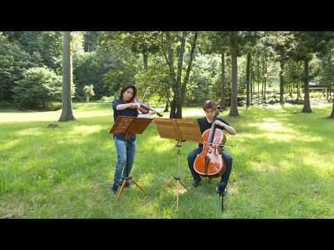 【バイオリンとチェロのためのソナタ 第4楽章】 作曲:ラヴェル 演奏:藤原晶世 藤原秀章【2020】