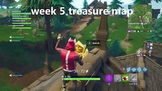 Fortnite week 5 secret tier and treasure map location