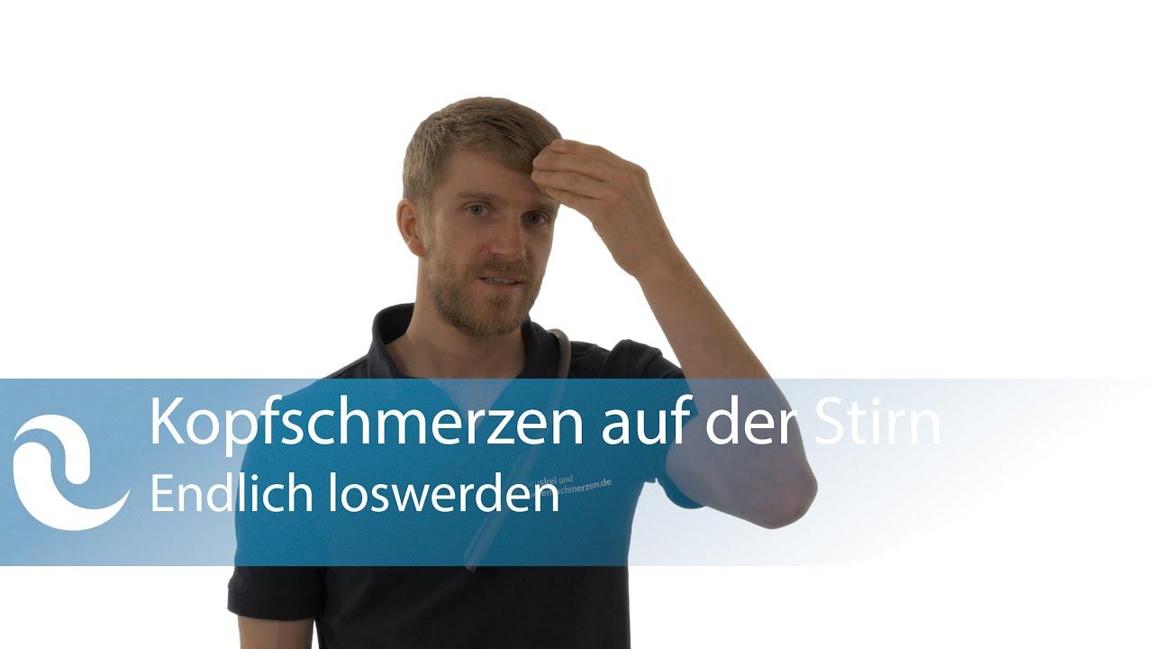 Kopfschmerzen auf der Stirn - Selbstbehandlung - YouTube