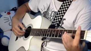 Quên (Khắc Việt) acoustic guitar solo  + rainy mood - Kenshin Dương