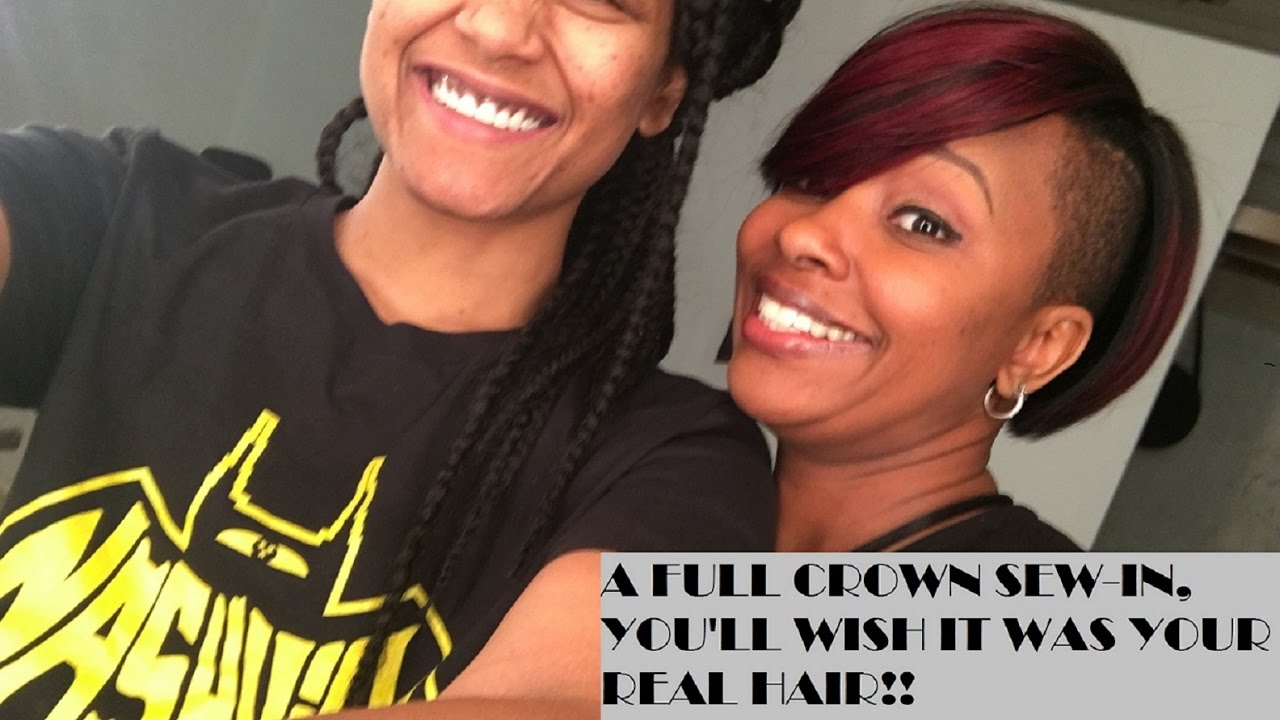 Full Crown Partial Sew In Bob Hairstyle Perfect For The Office